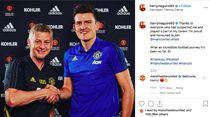 Resmi Gabung MU, Harry Maguire Posting Ini di Instagram