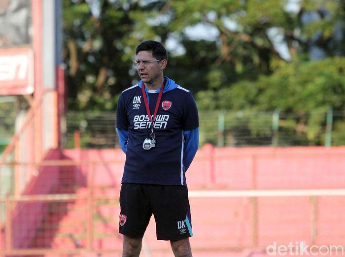 Pelatih PSM Makassar, Darije Kalezic, bahagia dengan bintang-bintang di lini depannya. (Foto: Rifkianto Nugroho/detikcom)