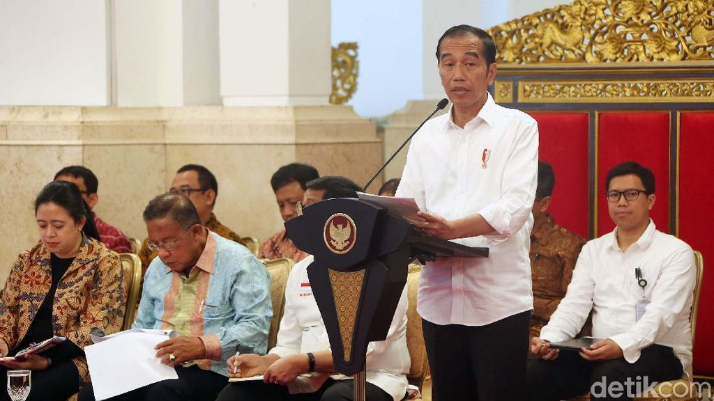 Jokowi Pimpin Sidang Kabinet Paripurna Bahas RAPBN 2020