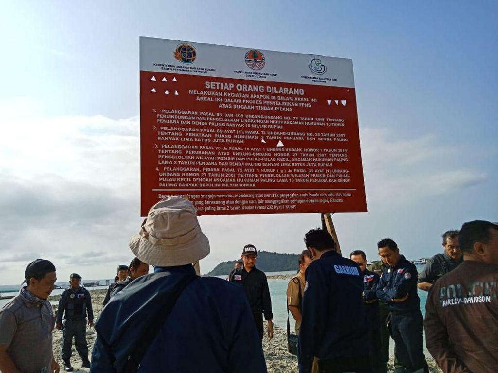 Tanpa Izin, Reklamasi Pantai di Pesawaran Lampung Disegel