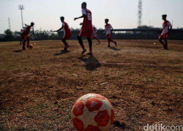 Penampakan terkini Stadion Tugu, Jakarta Utara, Selasa (6/8/2019).