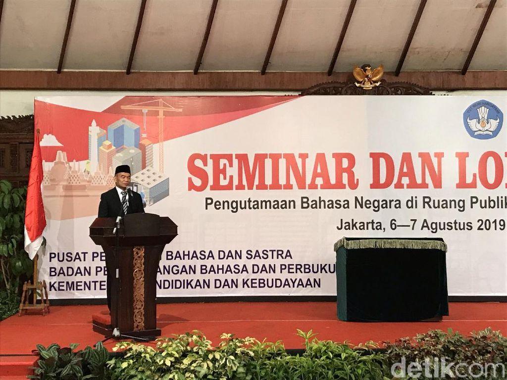 Mendikbud Minta Bahasa Indonesia Tertib Dipakai di Ruang Publik