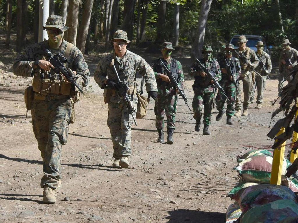 US Marine Takjub Latihan Bersama Marinir Indonesia