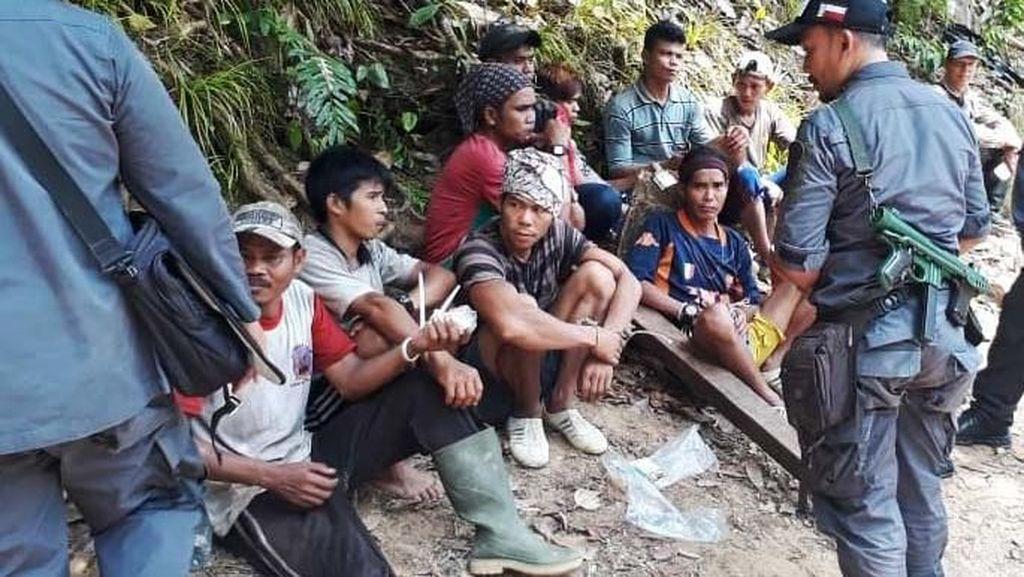 Ini 17 Pelaku Pembalakan Liar yang Ditangkap di Sambas
