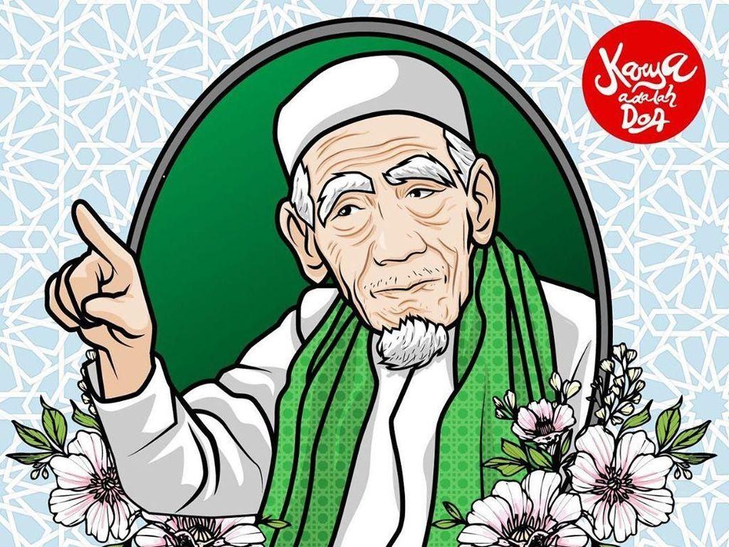 Doa-doa Mengalir untuk KH Maimun Zubair