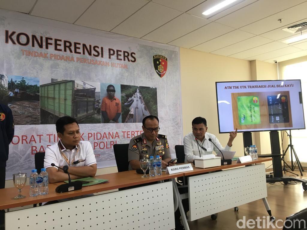 Polri Ungkap Pembalakan Liar di Jambi-Sumsel, 2 Ribu Kubik Kayu Diamankan