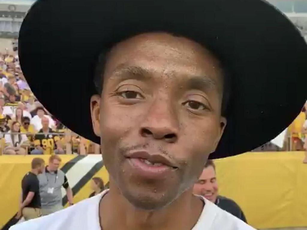 Dilarikan ke RS, Chadwick Boseman Si Black Panther Makin Kurus