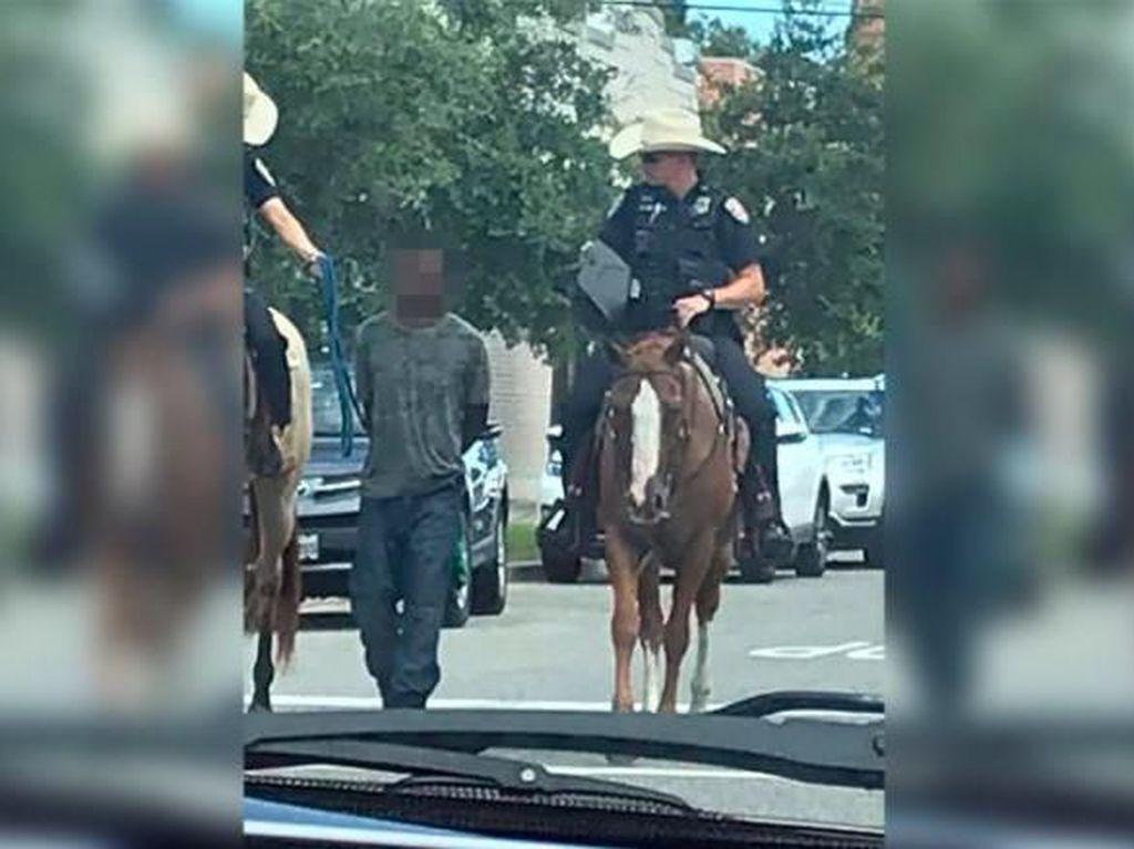 Giring Tahanan dengan Kuda dan Tali, Polisi AS Dikecam