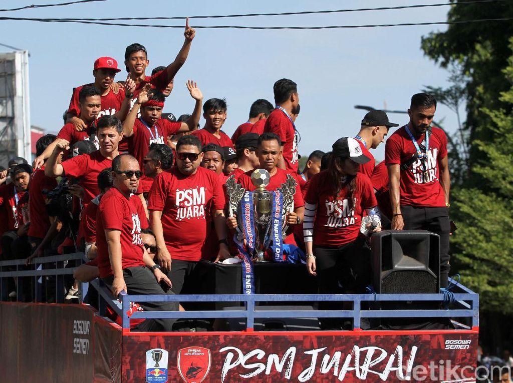 Parade Juara Piala Indonesia, PSM Serukan Perdamaian Antarsuporter