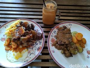 Puas Makan Steak Porsi Jumbo Saus BBQ di Prabu Steak