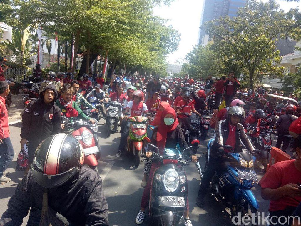 PSM Juara Piala Indonesia, Ribuan Suporter Juku Eja Konvoi di Jalanan