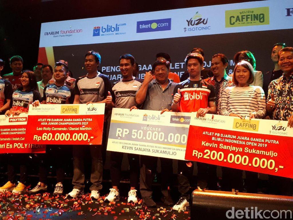Kevin dan Juara Bulutangkis Asia Junior Diganjar Bonus dari Klub