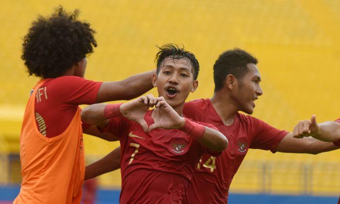 Timnas Indonesia sedang menempa diri di Kualifikasi Piala Asia U-19 2020. (Foto: Yusran Uccang/Antara Foto)