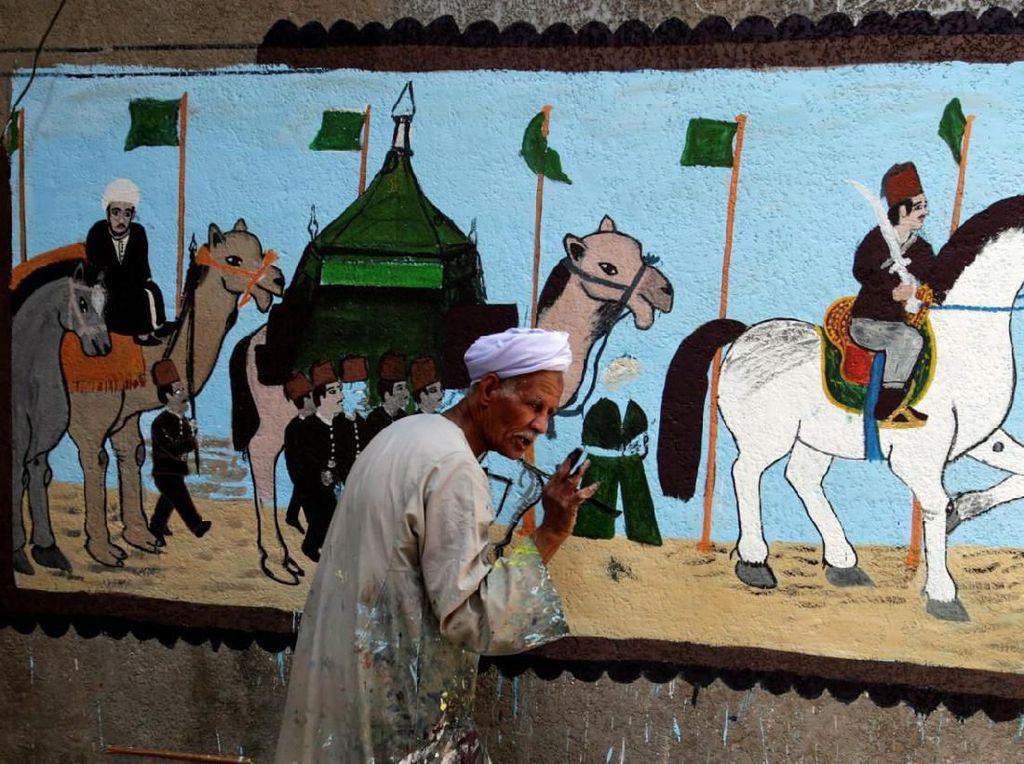 Mural Ibadah Haji di Mesir Sambut Perayaan Hari Idul Adha