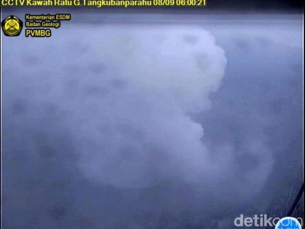 Sepekan Pascaerupsi, Aktivitas Vulkanik Tangkuban Perahu Tetap Tinggi