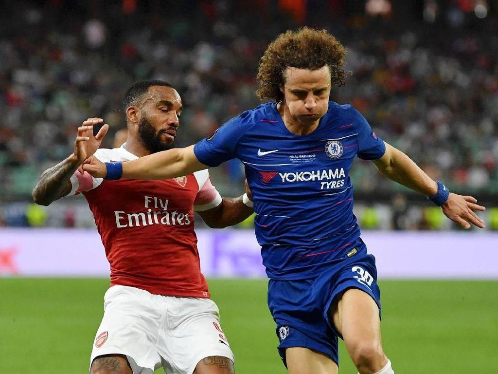 David Luiz Lega Kini Tak Harus Hadapi Lacazette dan Aubameyang Lagi