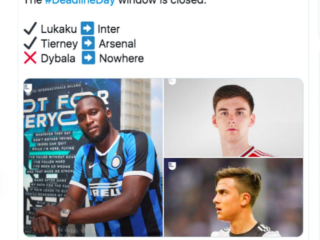 Meme Lukaku ke Inter dan Payahnya MU di Bursa Transfer