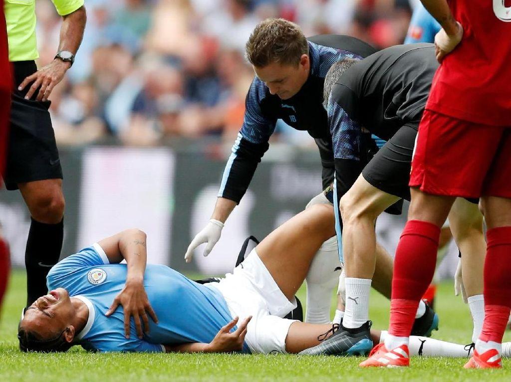 Cedera Lutut Parah, Sane Bisa Absen Sampai 7 Bulan