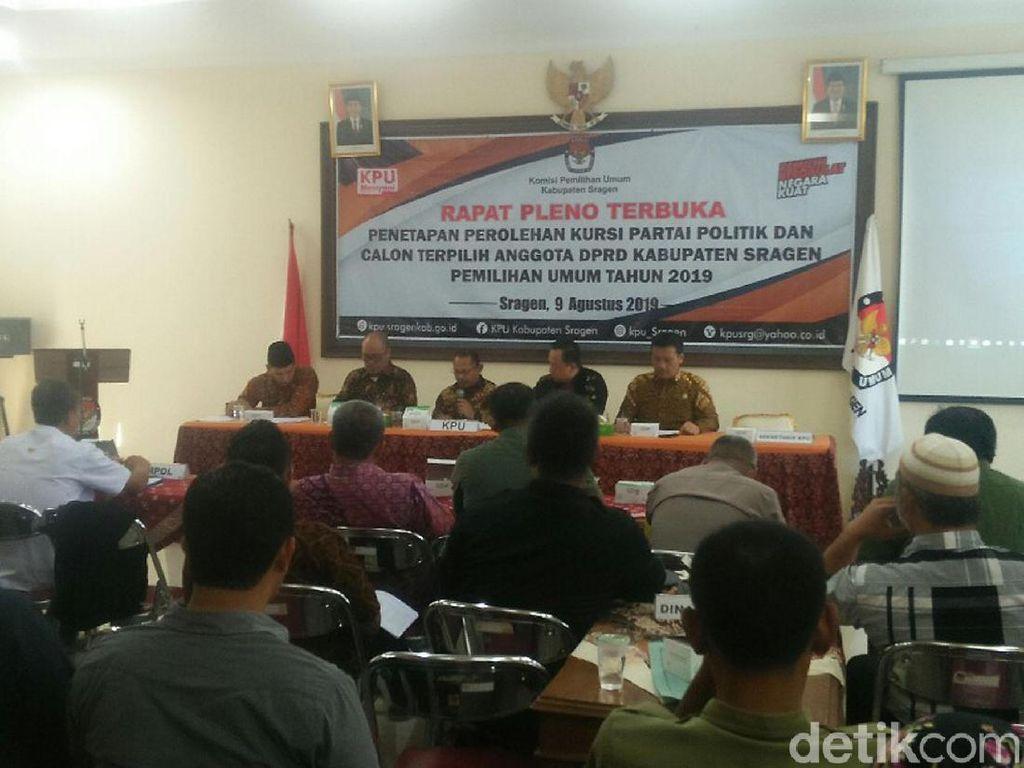 Pleno KPU Sragen Selesai, PDI Perjuangan Raih Kursi Terbanyak