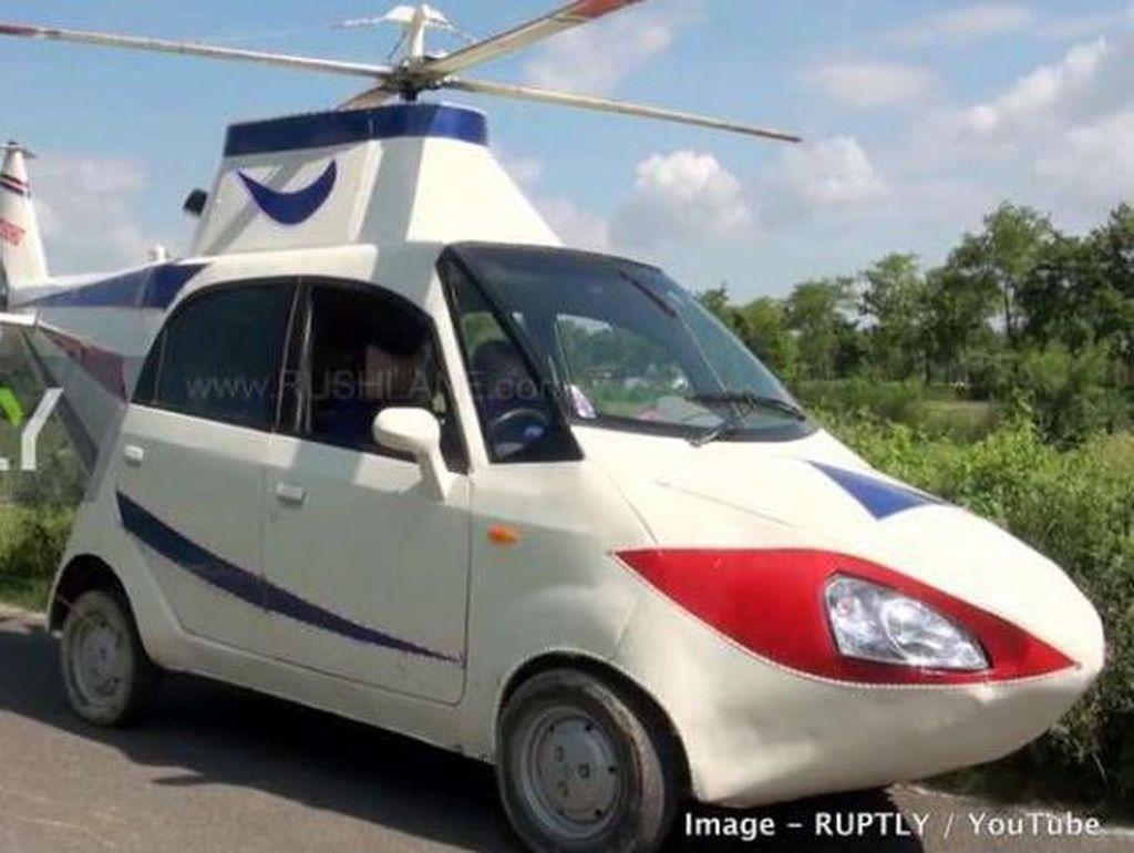 Kocak, Mobil Mungil Ini Dimodif Helikopter, Bisa Terbang?