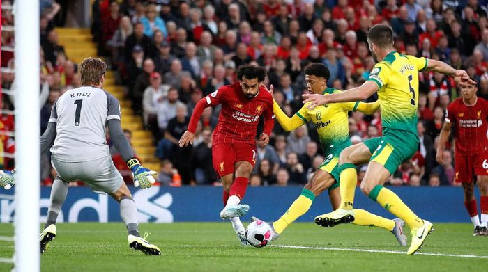 Liverpool kalahkan Norwich City 4-1 di pekan pembuka Premier League (Carl Recine/Reuters)