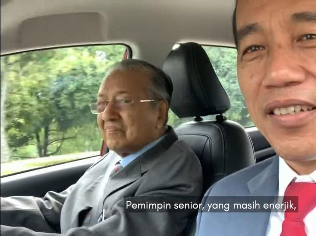 Ajukan Mundur, Mahathir Pernah Sopiri Jokowi di Malaysia