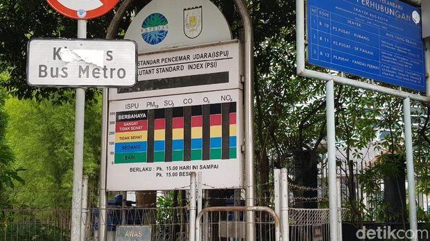 Papan Indeks Standar Pencemaran Udara (ISPU) di Pekanbaru