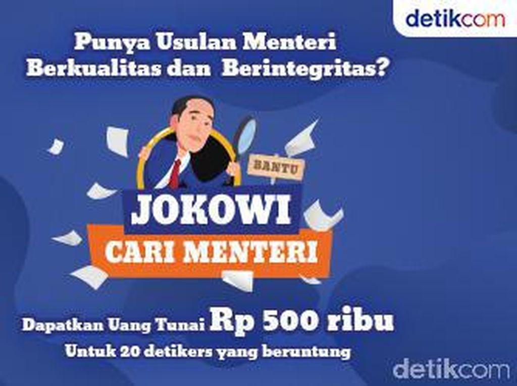 Yuk Bantu Jokowi Cari Menteri Bareng detikcom, Isi Surveinya!