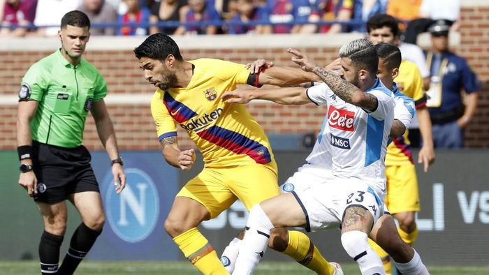 Napoli akan memberikan perlawanan sulit pada Barcelona. Foto: Jeff Kowalsky / AFP