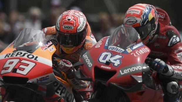 Andrea Dovizioso berhasil mengalahkan Marc Marquez di MotoGP Austria.
