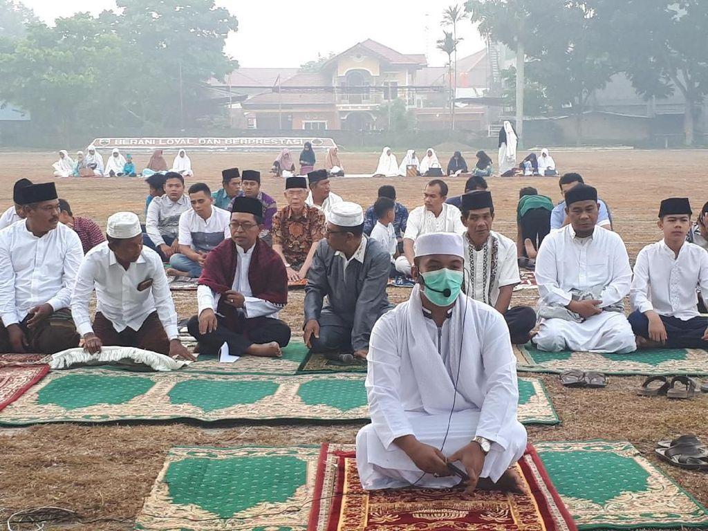 Salat Idul Adha di Pekanbaru Dikepung Kabut Asap