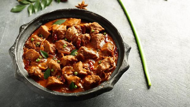 Popular Indian mutton curry roast -traditional recipe.