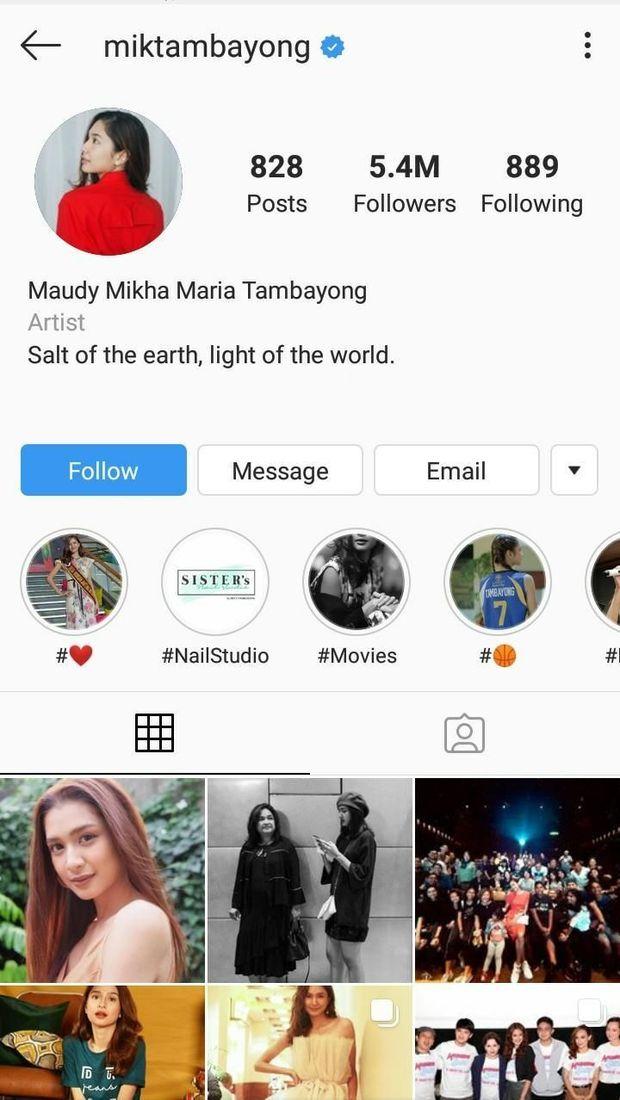 Instagram Mikha Tambayong