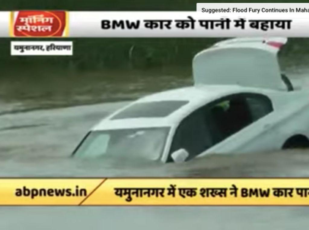 Keinginan Tidak Dipenuhi, Pemuda Ini Buang BMW ke Sungai