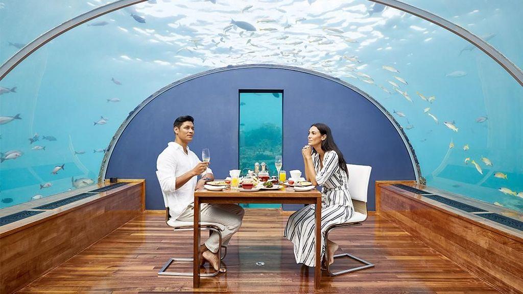 Foto: Beginilah Restoran Bawah Laut di Maldives