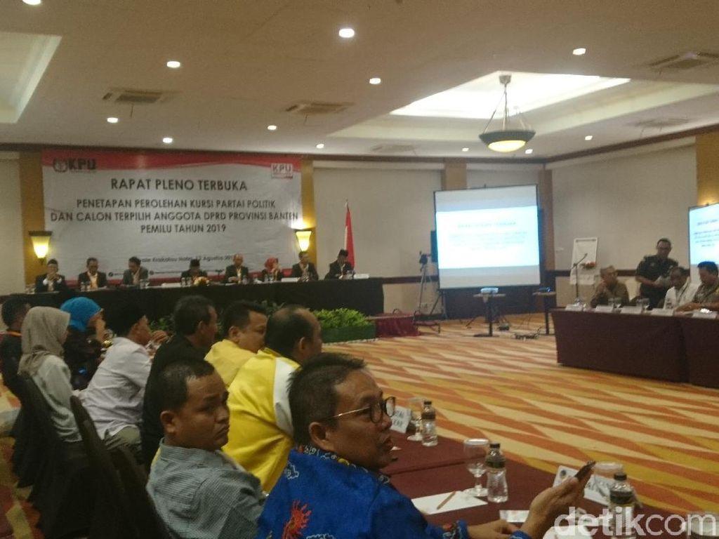 KPU Tetapkan Perolehan Kursi DPRD Banten, Gerindra Terbanyak