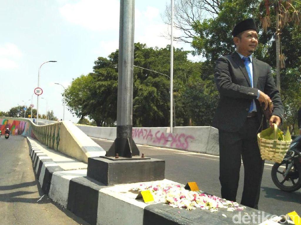 Tabur Bunga di Overpass Manahan, Kasus Tabrak Lari Diharapkan Tuntas