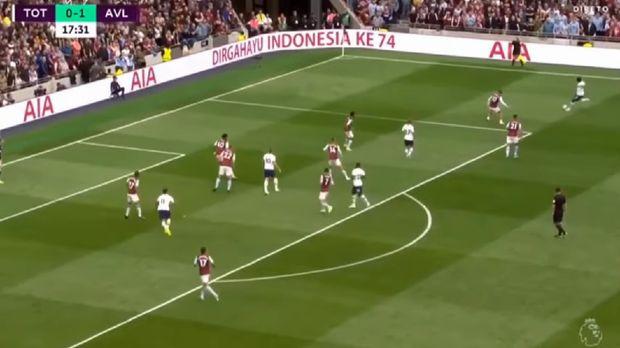Ucapan Dirgahayu Indonesia dari Laga Tottenham vs Aston Villa