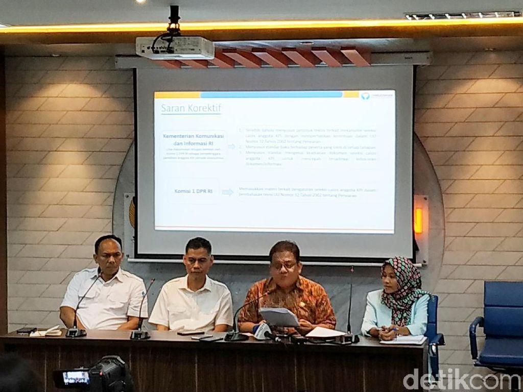 Temukan Maladimistrasi di Seleksi Anggota KPI, Ombudsman Beri 4 Saran