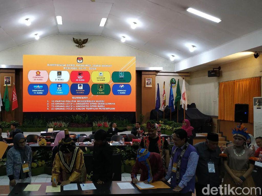 Ini Nama-nama Anggota DPRD Jabar Terpilih 2019 - 2024
