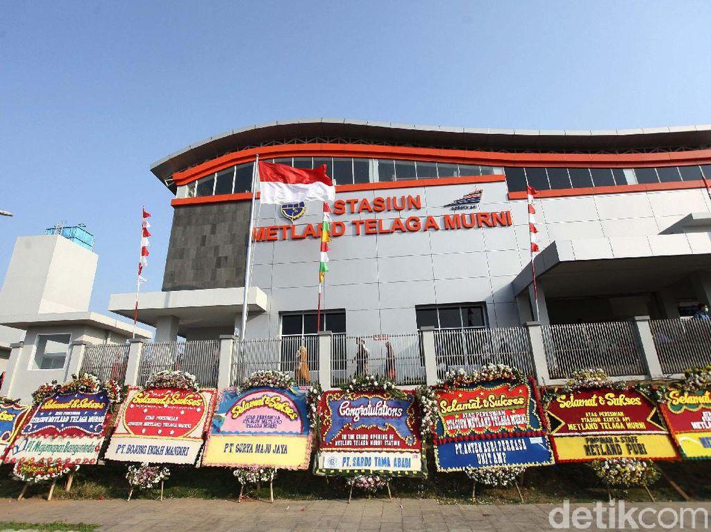 Keren! Begini Wajah Stasiun Metland Telaga Murni