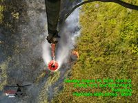 4 helikopter water bombing BNPB dikerahkan untuk memadamkan karhutla di Sumsel
