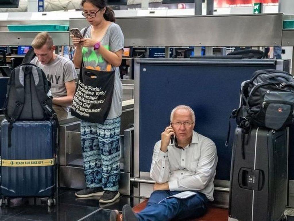 Kisah Puluhan WNI Terjebak di Bandara Hong Kong
