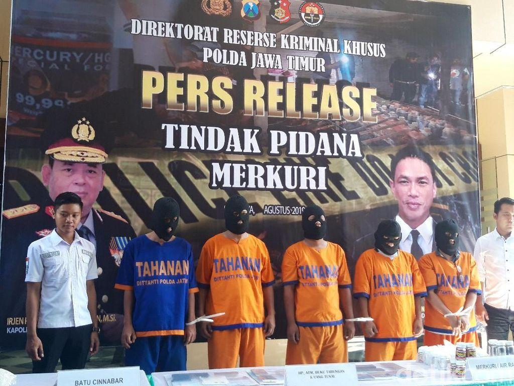 Polisi Ungkap Tambang Merkuri Ilegal di Sidoarjo, 5 Pelaku Ditangkap