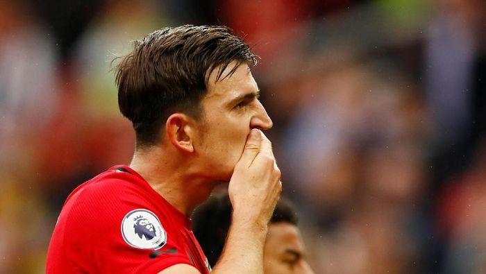 Harry Maguire, pembelian termahal Manchester United musim panas tahun ini. (Foto: Jason Cairnduff/Reuters)