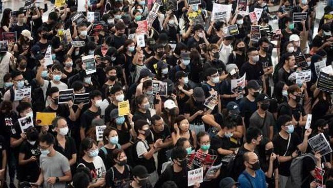 Berita Demo di Hong Kong, Kemlu Imbau Kunjungan Tak Mendesak Ditunda Kamis 22 Agustus 2019
