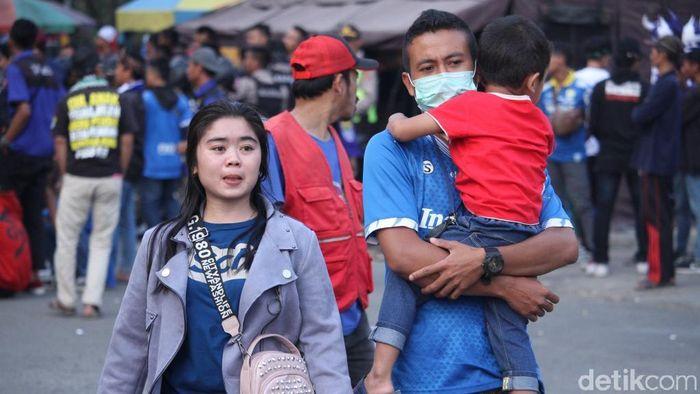 Laga Persib Bandung dan Borneo FC tak diminati Bobotoh. (Wisma Putra/detikSport)
