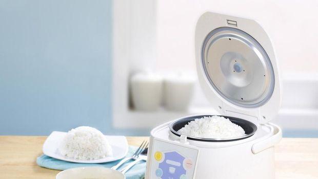 Ilustrasi masak nasi pakai rice cooker
