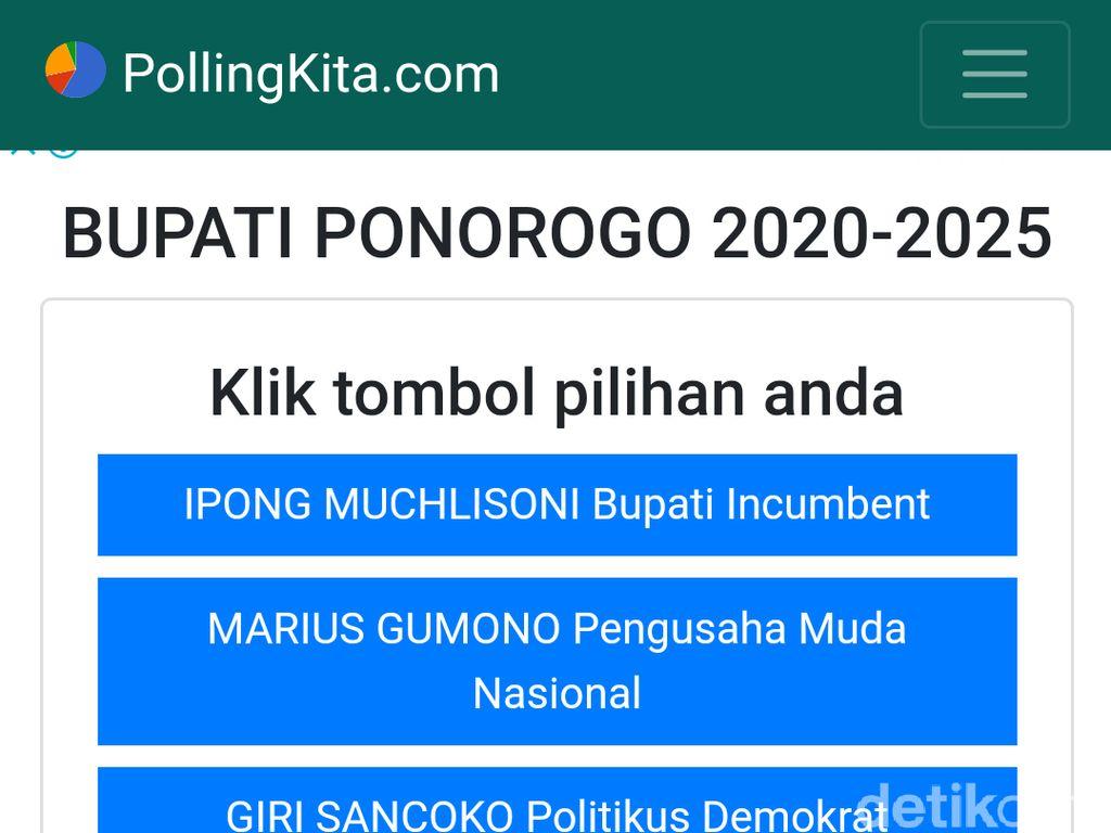 Beredar Polling Pilkada 2020 di Ponorogo, Begini Tanggapan Bupati Ipong