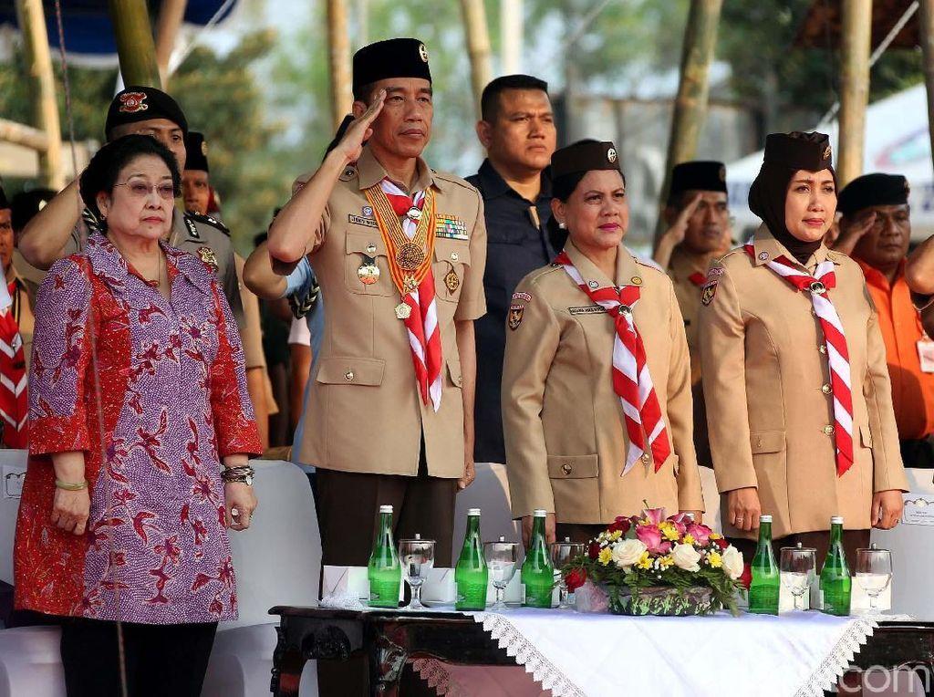 Momen Jokowi dan Megawati Hadiri Peringatan Hari Pramuka